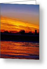 Willow Rd Sunset 2.27.2014 Greeting Card