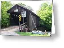 Willowemoc Covered Bridge Greeting Card