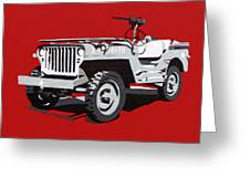Willys Jeep Greeting Card by Slade Roberts