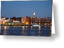 Wilmington At Night Greeting Card