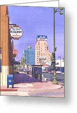 Wilshire Blvd At Mansfield Greeting Card