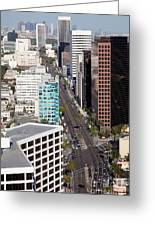 Wilshire Blvd Los Angeles California Greeting Card