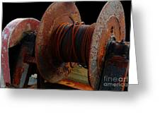 Winch - Cable - Crank - Boats Greeting Card