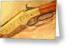 Winchester 1866 Yellow Boy Rifle Greeting Card