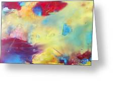Wind Abstract Painting Greeting Card