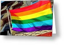 Wind Blown Pride Greeting Card