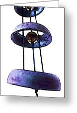 Wind Chime 8 Greeting Card by Sharon Cummings