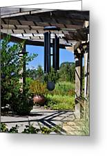 Wind Chime In A Garden Greeting Card