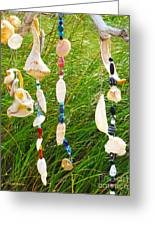 Wind Chimes At The Beach Greeting Card