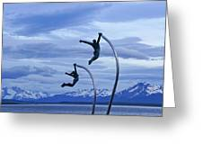 Wind Dancers Greeting Card