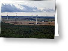Wind Energy Panorama Greeting Card