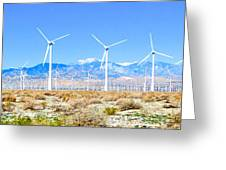 Wind Farm Palm Springs Greeting Card