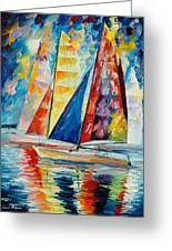 Wind In Sails Greeting Card