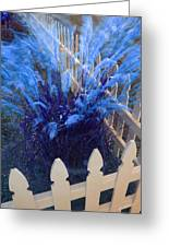Wind In The Grass - Blue Greeting Card