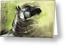 Wind In The Mane 3 Greeting Card