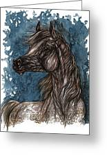 Wind In The Mane Greeting Card