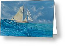 Wind On The Water Greeting Card