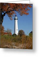 Wind Point Lighthouse 74 Greeting Card