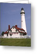 Wind Point Lighthouse Greeting Card