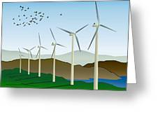 Wind Power Greeting Card