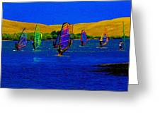 Wind Surf Lessons Greeting Card