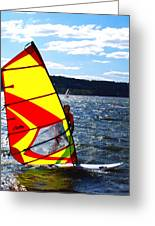 Wind Surfer II Greeting Card