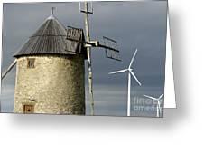 Wind Turbines And Windfarm Greeting Card