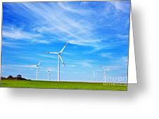 Wind Turbines Farm Greeting Card
