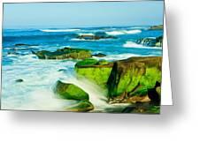 Windansea Beach 4 Greeting Card