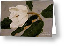 Windblown Magnolia Greeting Card
