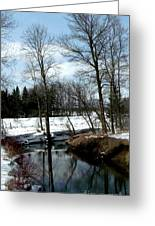 Winding Creek Shows Reflection Greeting Card