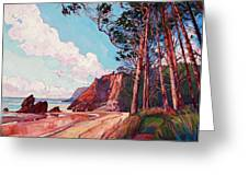 Winding Pines Greeting Card by Erin Hanson