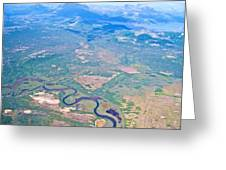 Winding River From The Seaplane In Katmai National Preserve-alaska Greeting Card