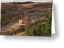 Winding Segovia Roads Greeting Card by Viacheslav Savitskiy