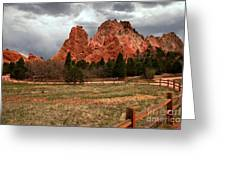 Winding Through The Garden Of The Gods Greeting Card