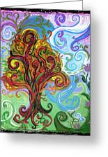 Winding Tree Greeting Card by Genevieve Esson
