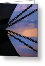 Windjammer Schooner Appledore Bobstays In Abstract Greeting Card