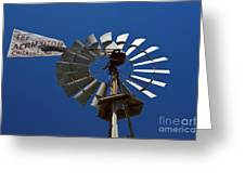 Windmill Aermotor Company Greeting Card