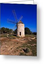 Windmill In El Pilar De La Mola On Formentera Greeting Card