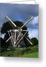 Windmill In Dutch Countryside Greeting Card