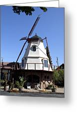 Windmill In Solvang Greeting Card