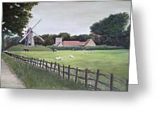 Windmill On Farm Greeting Card