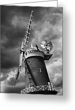 Windmill Painting Greeting Card