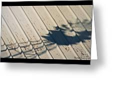 Windmill Shadows Greeting Card