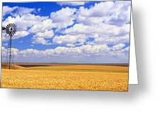 Windmill Wheat Field, Othello Greeting Card