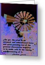 Windmill With Lincoln Quote Greeting Card