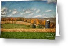 Windmills On The Horizon Greeting Card