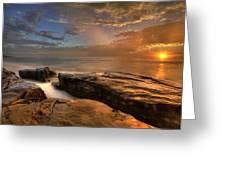 Windnsea Gold Greeting Card