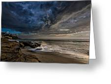 Windnsea Stormy Greeting Card by Peter Tellone