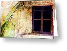 Window - Water Color - Fort Greeting Card